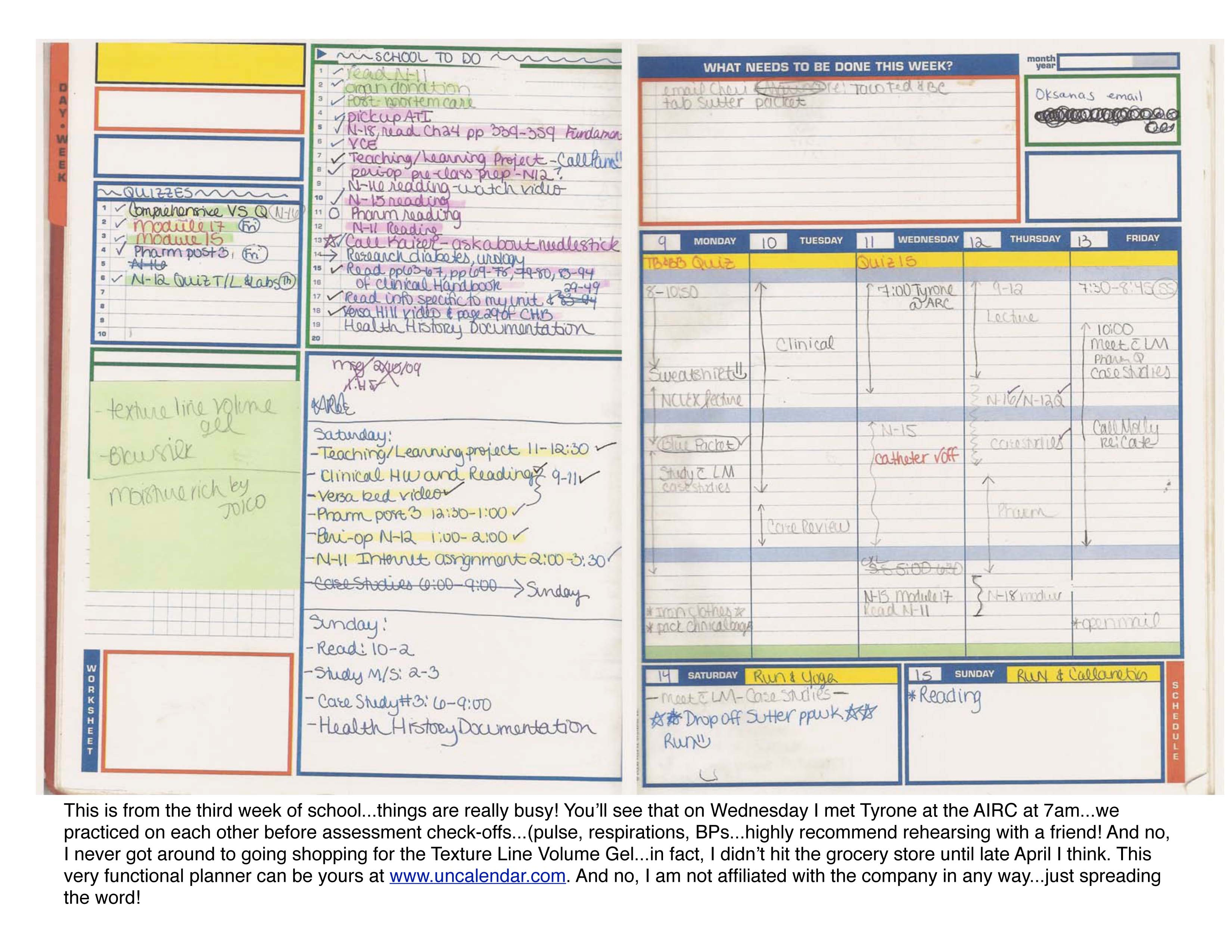 House Addition Planner Organization Is Key Straight A Nursing